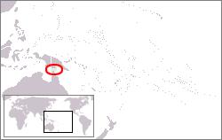 托雷斯海峡群岛的位置,在澳大利亚昆士兰州约克角半岛和巴布亚新几内亚之间。