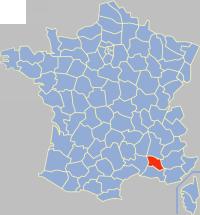 沃克吕兹省在法国的位置