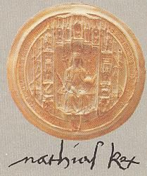 Matthias's signature and royal stamp