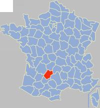 洛特省在法国的位置