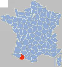 上比利牛斯省在法国的位置