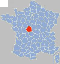 安德尔省在法国的位置