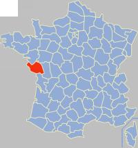 旺代省在法国的位置