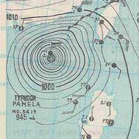 1954年11月5日的天气图