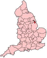 东北林肯郡在英格兰的位置