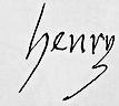 Henry II's signature