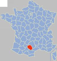 塔恩省在法国的位置