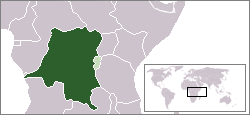 The Belgian Congo (dark green) shown alongside Ruanda-Urundi (light green), 1935