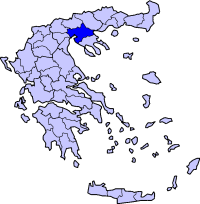 塞萨洛尼基州在希腊的位置