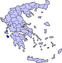 扎金索斯州在希腊的位置