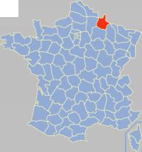 阿登省在法国的位置
