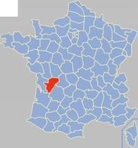 夏朗德省在法国的位置