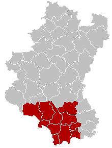 维尔通区在卢森堡省的位置