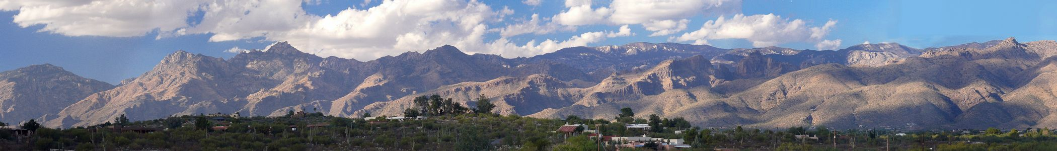 View of the south side of the Santa Catalina Mountains as seen from Tucson, Arizona.