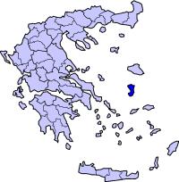 希俄斯州在希腊的位置