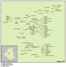 Gourara ksour - Linguistic map.PNG