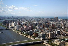 NiigataCity Skylines from Toki Messe