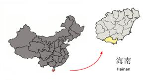 图中高亮显示的是三亚市