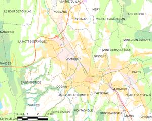 尚贝里市镇地图