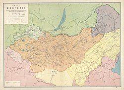 大蒙古国的位置(1914年)