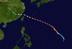 超强台风玛莉亚的路径图