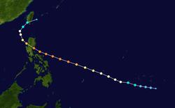 强台风南玛都的路径图