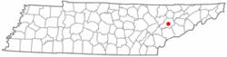 在美国田纳西州的位置