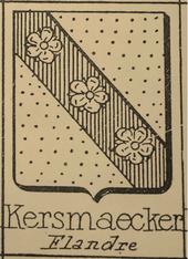 Coat of Arms originally used by the De Keersmaeker family in Flanders.