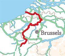 Location of navigable river Schedt/Escaut