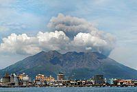 Kagoshima cityscape against the background of Sakurajima volcano. Japan, East Asia.jpg