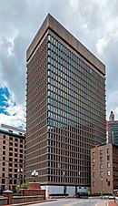 Textron Tower, a concrete and glass commercial high-rise building in Downtown Providence