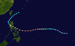 超强台风厄尔玛的路径图