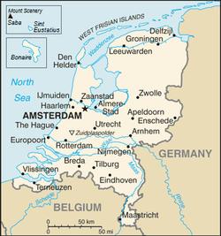 Location of Netherlands