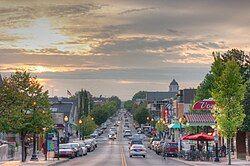 Kirkwood Avenue looking toward downtown