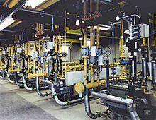 A machine room