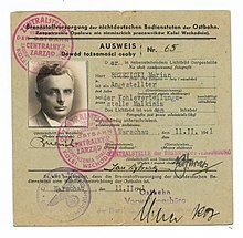 German ID issued to a worker who was posted to the Malkinia train station near Treblinka.jpg