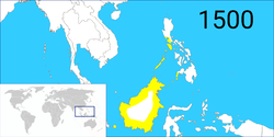 文莱帝国在15世纪的程度疆域