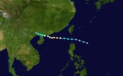 台风玉兔的路径图
