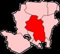 温切斯特市位于汉普郡的位置