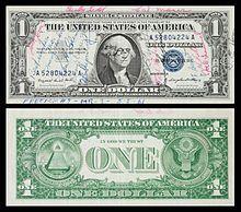 这张1957-A版1美元银票曾跟随艾伦·谢泼德搭乘自由7号进行太空飞行