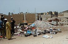 A dusty dump