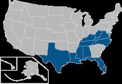 合众国联盟 locations