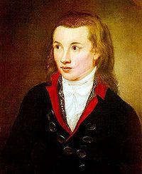 Novalis (1799), portrait by Franz Gareis