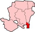 哈文特自治市镇位于汉普郡的位置