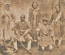 Photograph of Qadr in Nepal in the 1870s