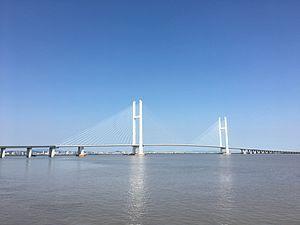 Boundary River Highway Bridge of Sino-Korean Yalu River.jpg