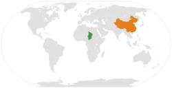 Chad和China在世界的位置
