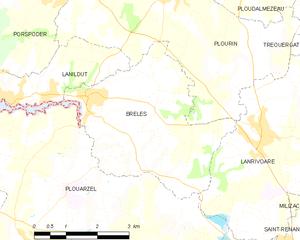布雷莱市镇地图