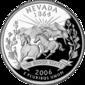 Nevada quarter dollar coin