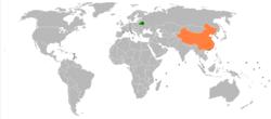 白俄罗斯和中国在世界的位置
